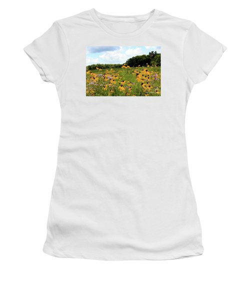 Yellow Cone Flowers Women's T-Shirt (Athletic Fit)