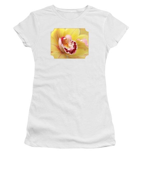 Yellow Cymbidium Orchid Women's T-Shirt (Junior Cut)
