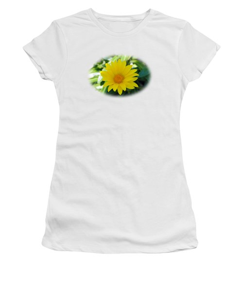 Yellow Flower T-shirt Women's T-Shirt (Junior Cut) by Isam Awad