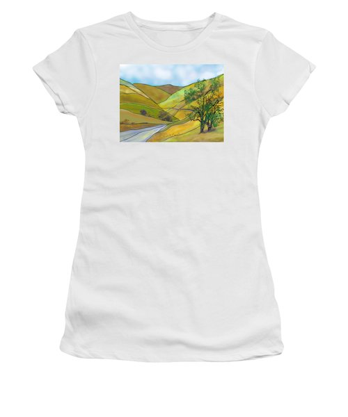 Yellow Foothills Women's T-Shirt (Athletic Fit)