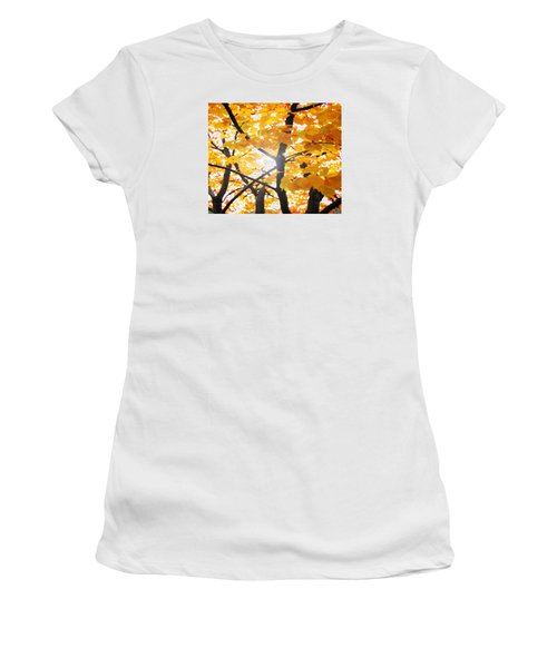 Yellow Light Women's T-Shirt (Junior Cut) by Patricia Arroyo