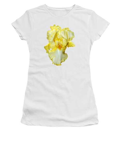Yellow Mist Iris Women's T-Shirt (Junior Cut) by Phyllis Denton