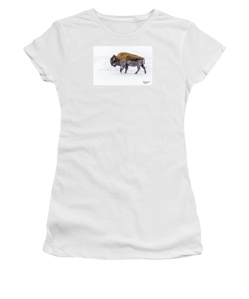 Yellowstone Bison Women's T-Shirt (Athletic Fit)