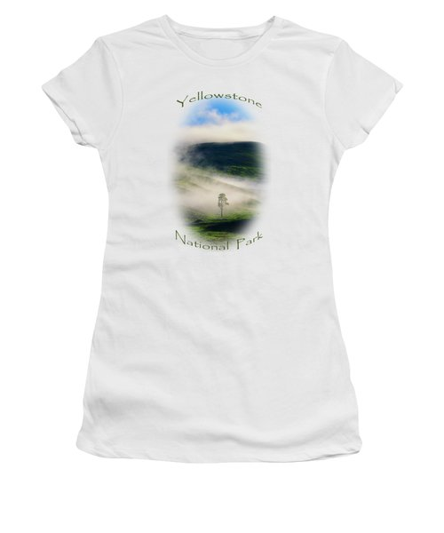 Yellowstone T-shirt Women's T-Shirt (Junior Cut) by Greg Norrell