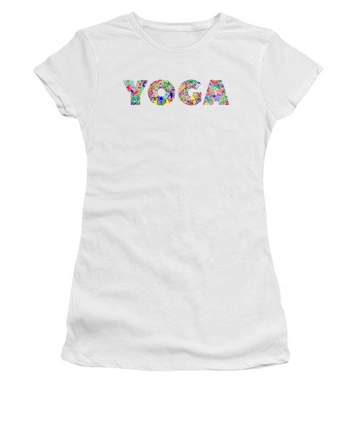 Yoga Word Art Women's T-Shirt