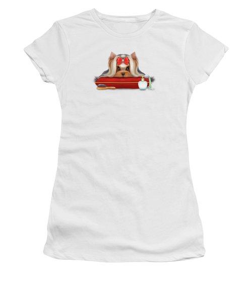 Yorkie Beauty Women's T-Shirt (Junior Cut) by Catia Cho