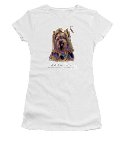 Yorkshire Terrier Pop Art Women's T-Shirt