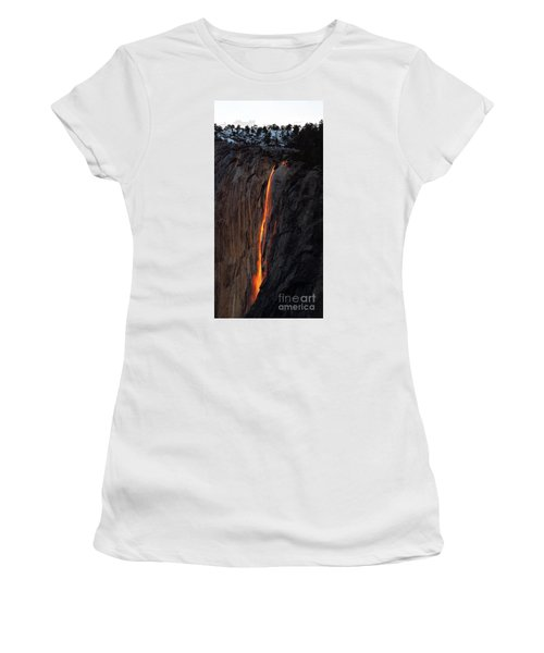 Yosemite Fire Falls - 2016 Women's T-Shirt (Athletic Fit)