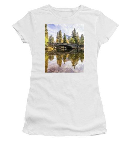 Yosemite Reflections Women's T-Shirt (Junior Cut) by Alpha Wanderlust