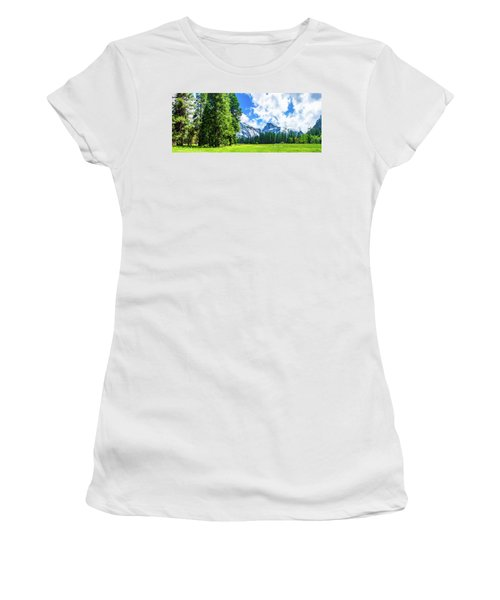 Yosemite Valley And Half Dome Digital Painting Women's T-Shirt (Athletic Fit)