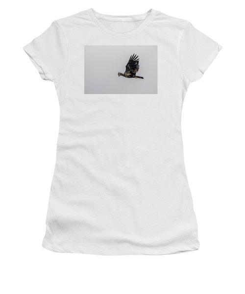 Young Eagle In Flight 07 Women's T-Shirt (Junior Cut) by Timothy Latta