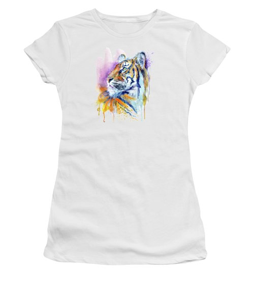 Young Tiger Portrait Women's T-Shirt (Athletic Fit)