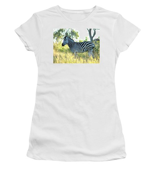 Young Zebra Women's T-Shirt (Athletic Fit)