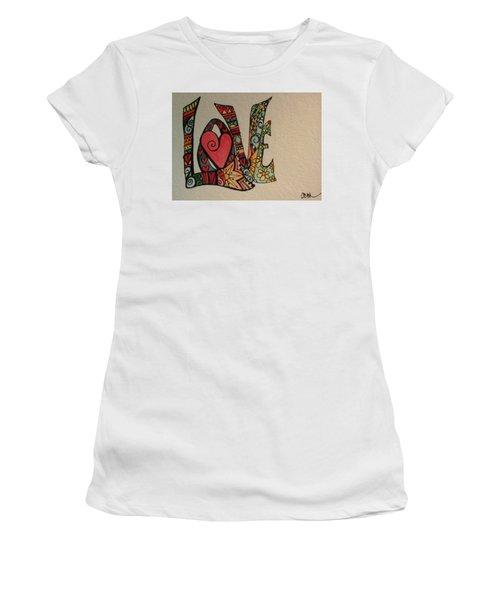 Your Big Heart Women's T-Shirt (Junior Cut) by Claudia Cole Meek