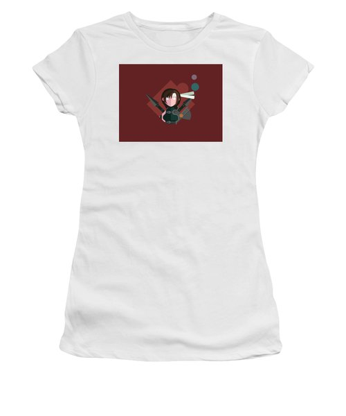 Women's T-Shirt (Junior Cut) featuring the digital art Yuffie by Michael Myers