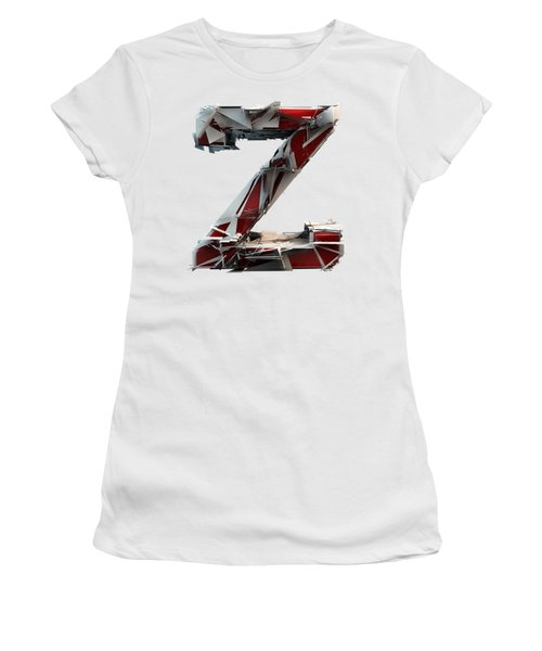 Women's T-Shirt featuring the photograph Z Is For Zebra by Gary Keesler