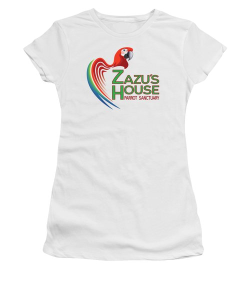 Zazu's House Parrot Sanctuary Women's T-Shirt (Junior Cut) by Zazu's House Parrot Sanctuary