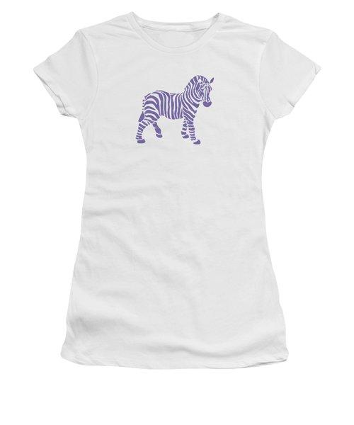Zebra Stripes Pattern Women's T-Shirt