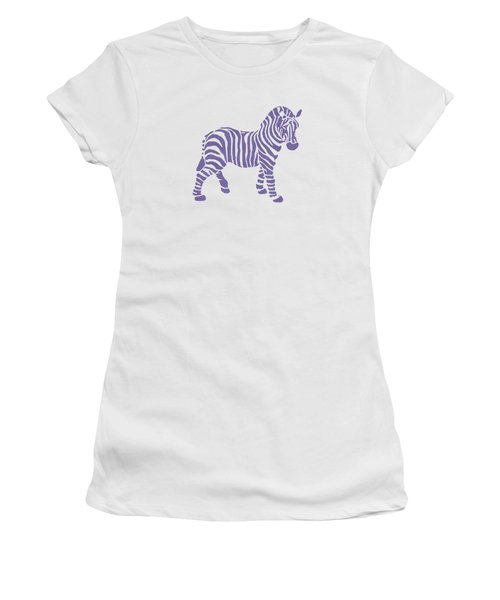 Zebra Stripes Pattern Women's T-Shirt (Athletic Fit)