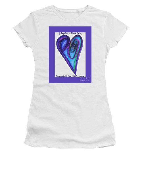 Zen Hearts Eclipse Eve Women's T-Shirt (Athletic Fit)