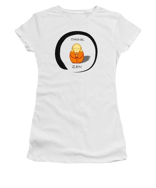 Zen Symbol With Buddha Women's T-Shirt (Athletic Fit)