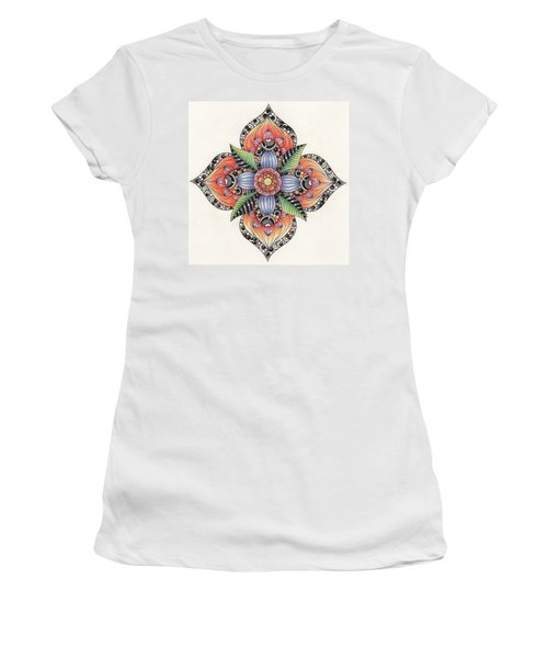 Zendala Template #1 Women's T-Shirt (Junior Cut) by Jan Steinle