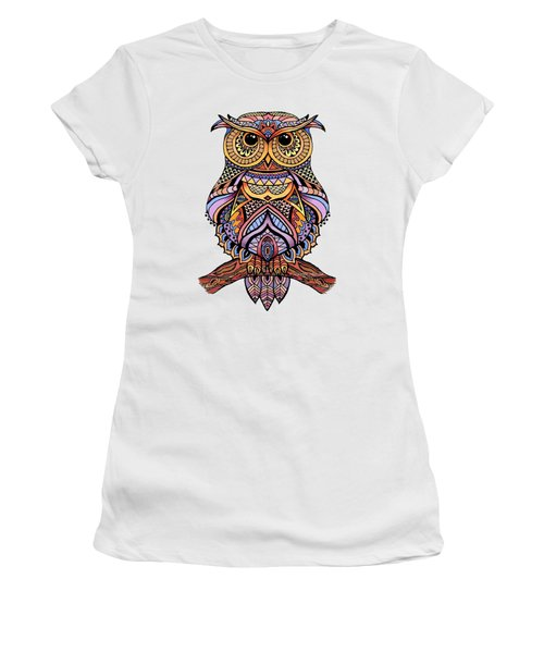 Zentangle Owl Women's T-Shirt (Athletic Fit)