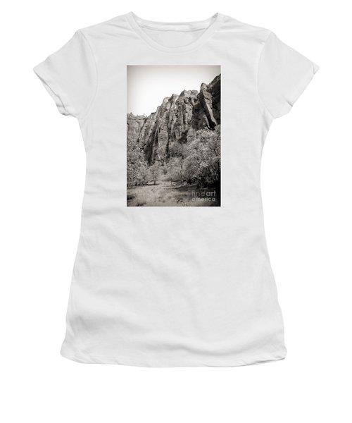 Zion National Park Sepia Tones  Women's T-Shirt