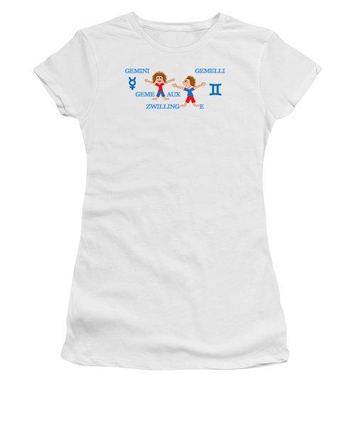 Zodiac Sign Gemini Women's T-Shirt (Athletic Fit)