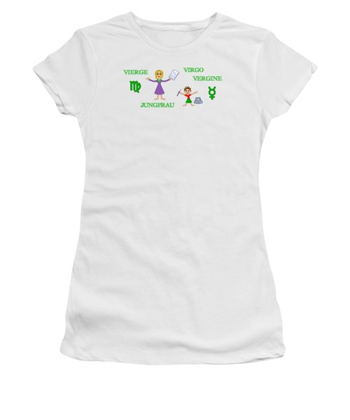 Zodiac Sign Virgo Women's T-Shirt (Athletic Fit)