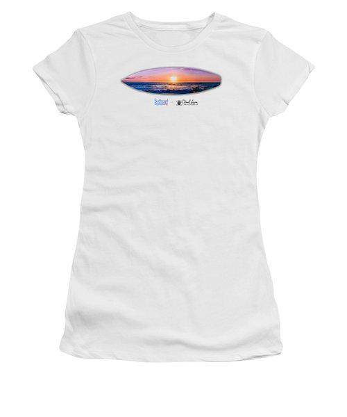 A Purple Orange Majestic Sunset -- Png Women's T-Shirt