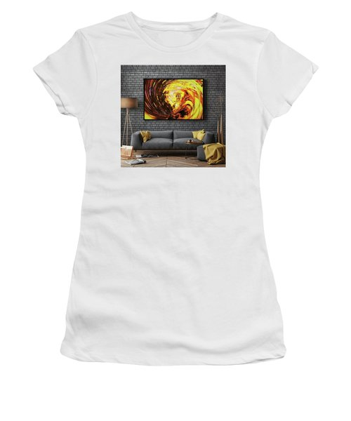 Abstract Gold Swirl Women's T-Shirt