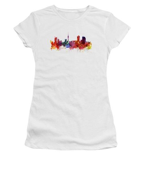 Auckland Watercolor Skyline Women's T-Shirt