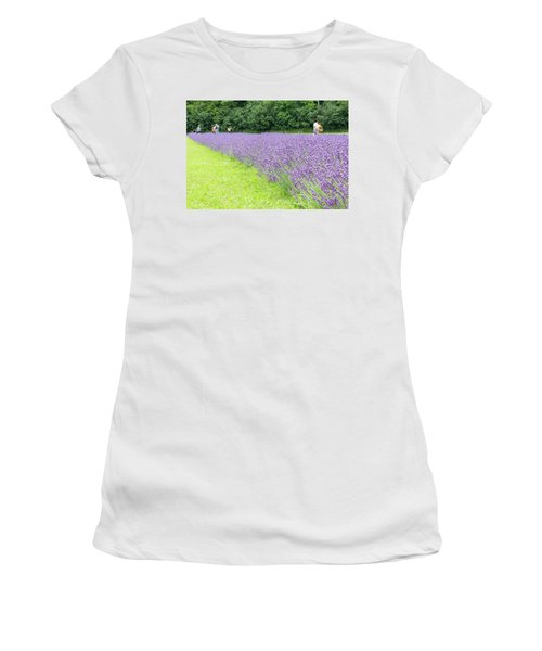 Blue Lavender Women's T-Shirt (Athletic Fit)