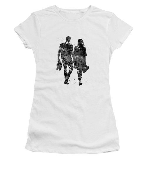 Couple Walking Barefoot Women's T-Shirt