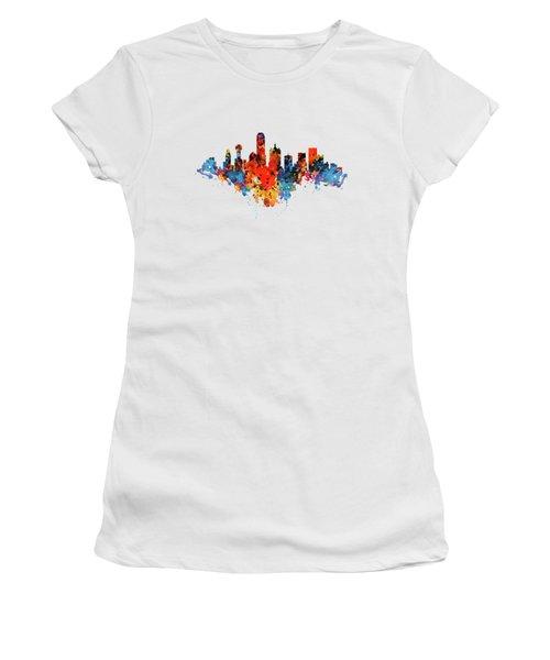 Dallas Watercolor Skyline  Women's T-Shirt