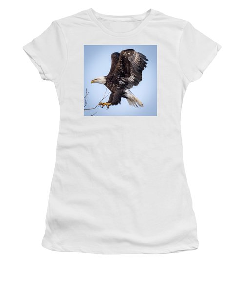 Eagle Coming In For A Landing Women's T-Shirt