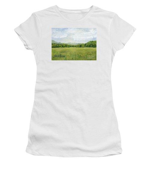 Fields Meet Mountains Women's T-Shirt