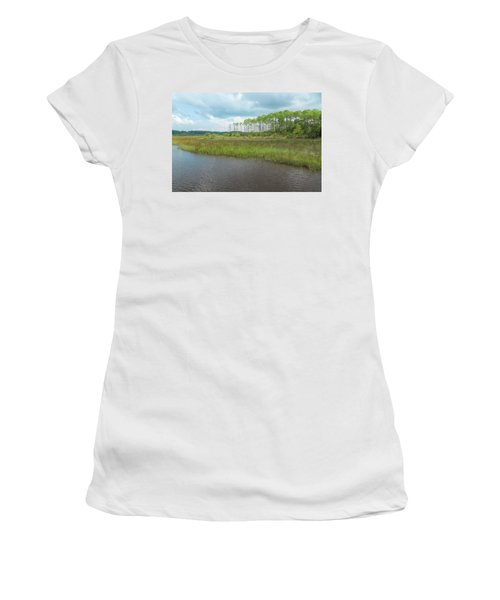 Women's T-Shirt (Athletic Fit) featuring the photograph Florida Marshland by John M Bailey