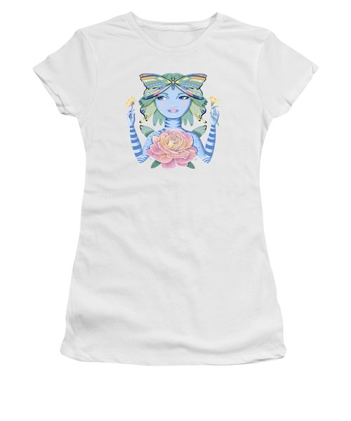 Insect Girl, Winga, With Rose Women's T-Shirt