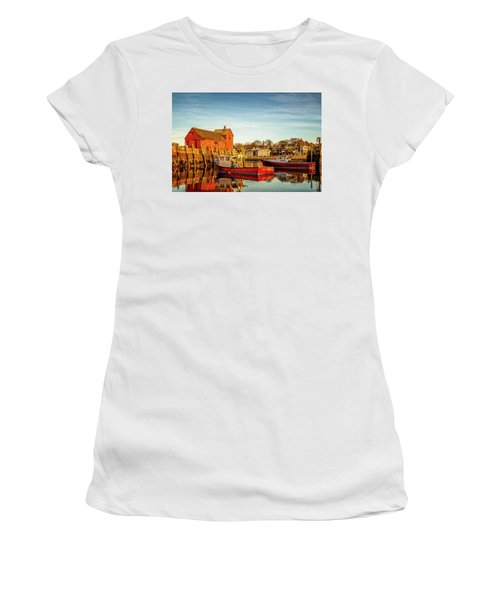 Low Tide And Lobster Boats At Motif #1 Women's T-Shirt