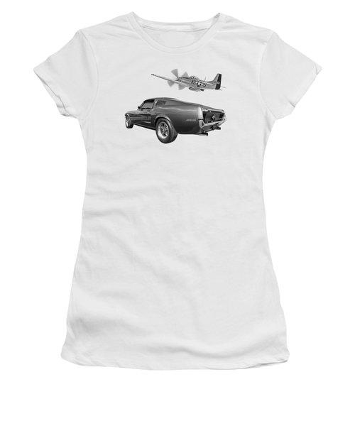 p51 With Bullitt Mustang Women's T-Shirt