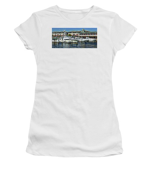 Women's T-Shirt (Athletic Fit) featuring the photograph Pensacola Pier by Anthony Dezenzio