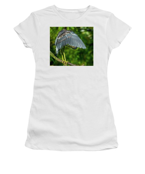 Preening Reddish Heron Women's T-Shirt