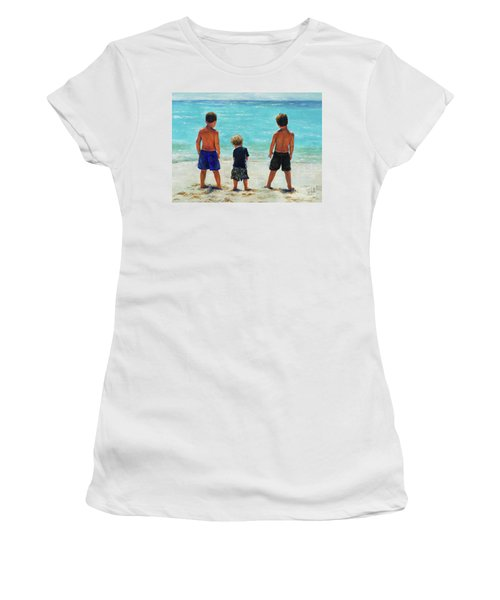 Three Beach Boys Aqua Sea Women's T-Shirt