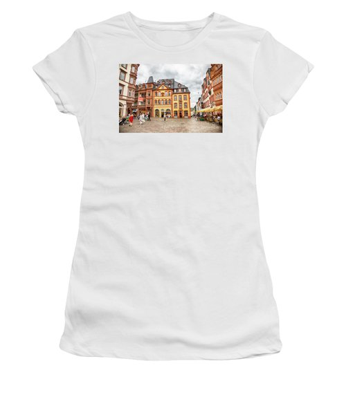 Trier, Germany,  People By Market Day Women's T-Shirt