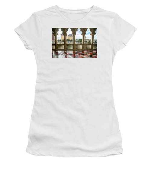 Women's T-Shirt featuring the photograph Views Of Las Vegas Nevada Strip In November by Alex Grichenko