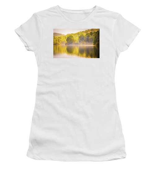Women's T-Shirt featuring the photograph Julian Price Lake, Along The Blue Ridge Parkway In North Carolin by Alex Grichenko