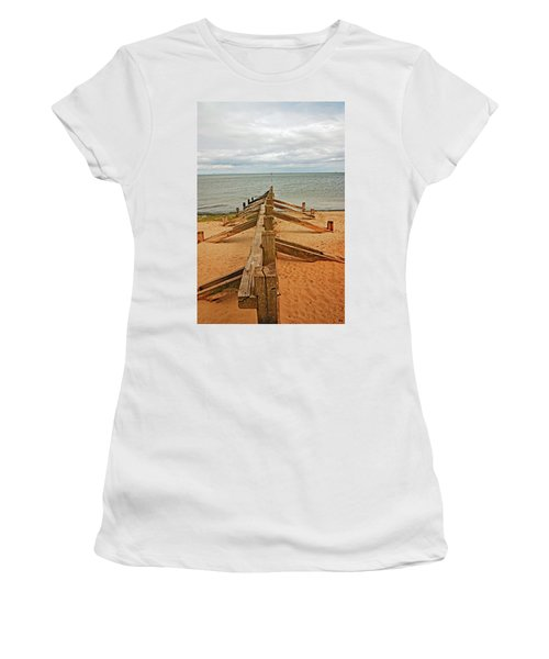 19/08/13 Edinburgh, Poetobello. The Shore And Groynes. Women's T-Shirt
