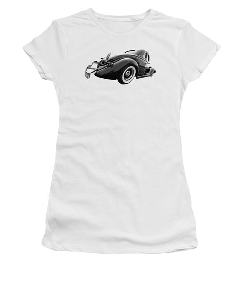1935 Ford Coupe In Black And White Women's T-Shirt